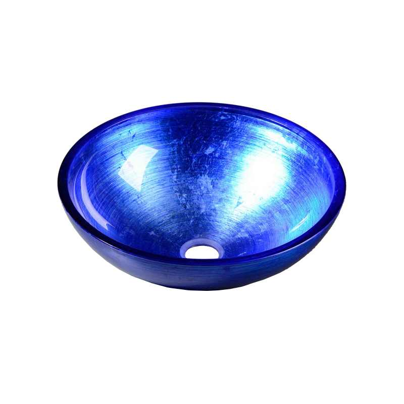 Zila dizaina izlietne no stikla