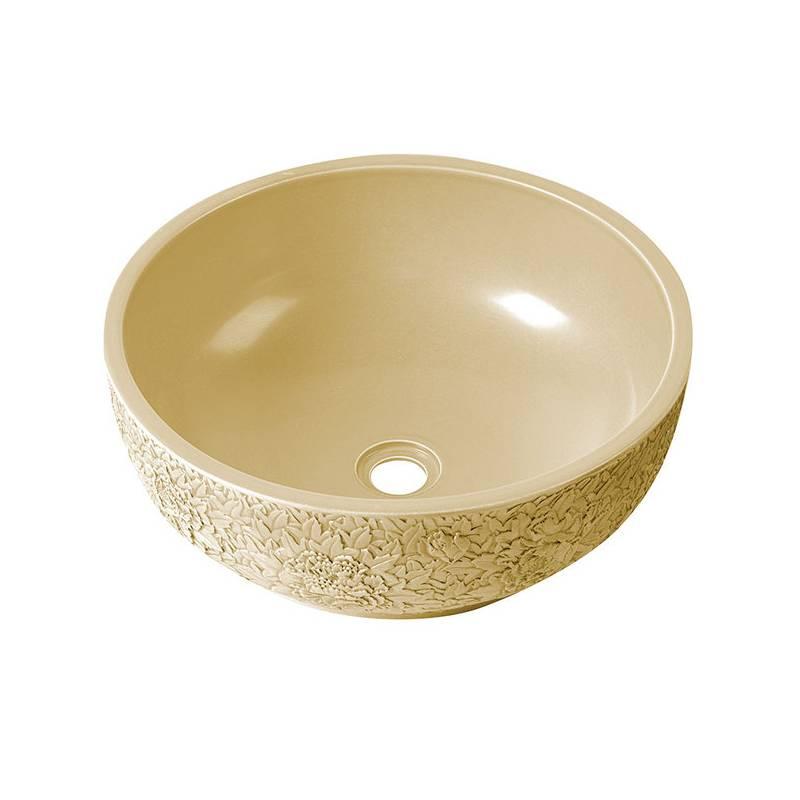 Apaļa keramikas dizaina izlietne