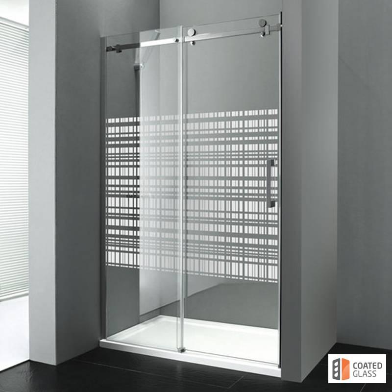Dušas durvis nišai ar bīdāmām durvīm