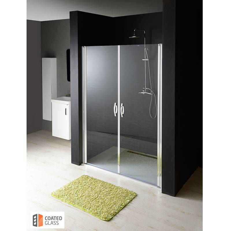 Dubultas dušas durvis nišai