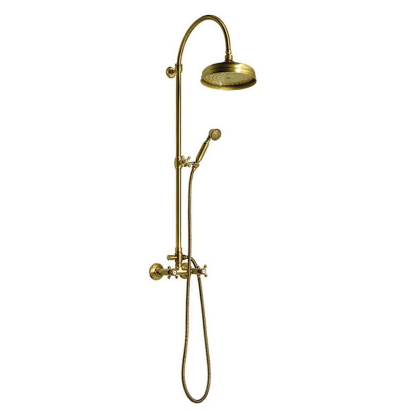 retro dušas sistēma, bronzas krāsā