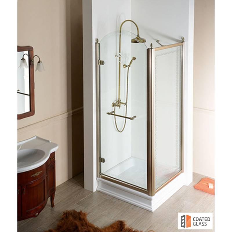 Kvadratveida dušas stūris klasiskā stilā