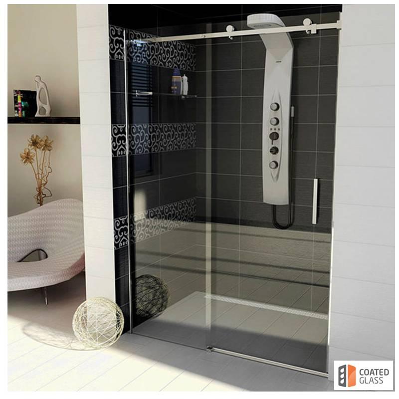 Dušas stūris ar bīdāmām durvīm