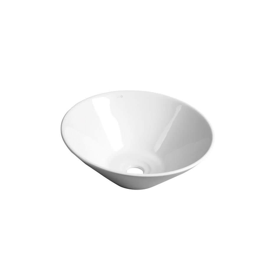 Apaļa keramikas izlietne, balta 42cm