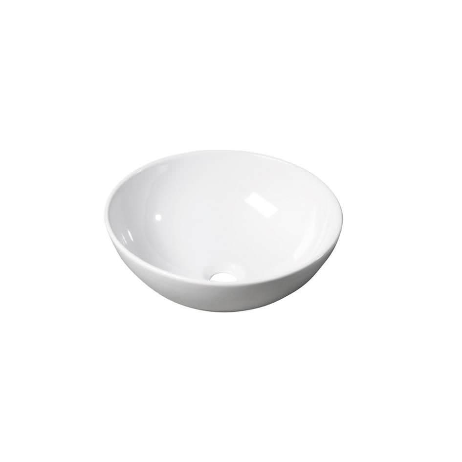 Apaļa keramikas izlietne vannas istabai, balta