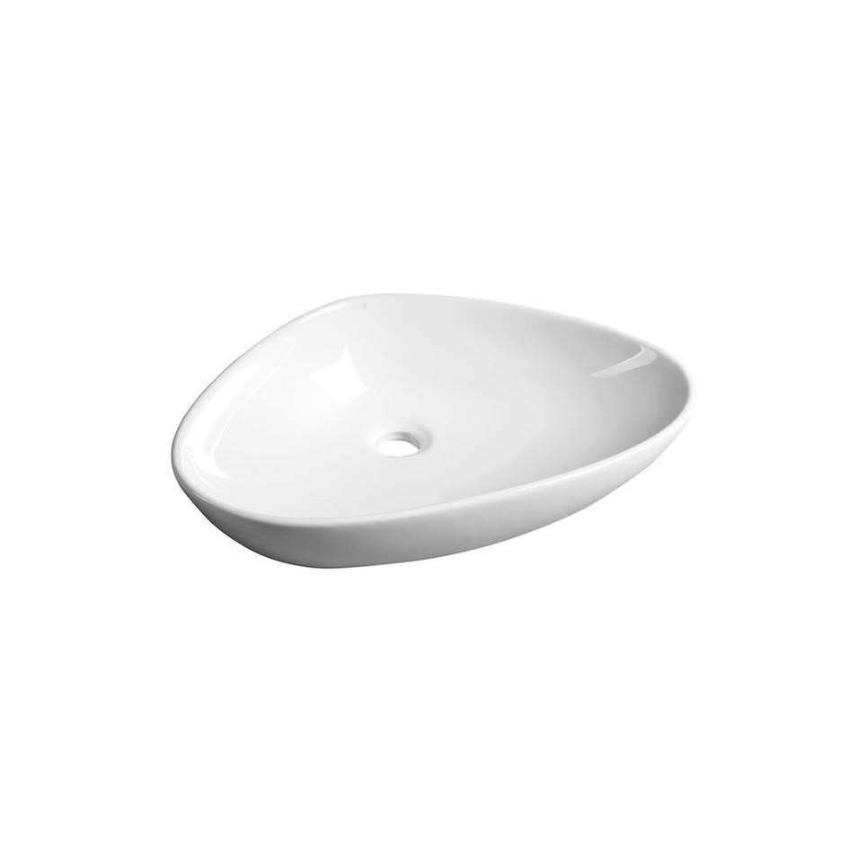 Trīsstūra izlietne vannas istabai, balta keramika