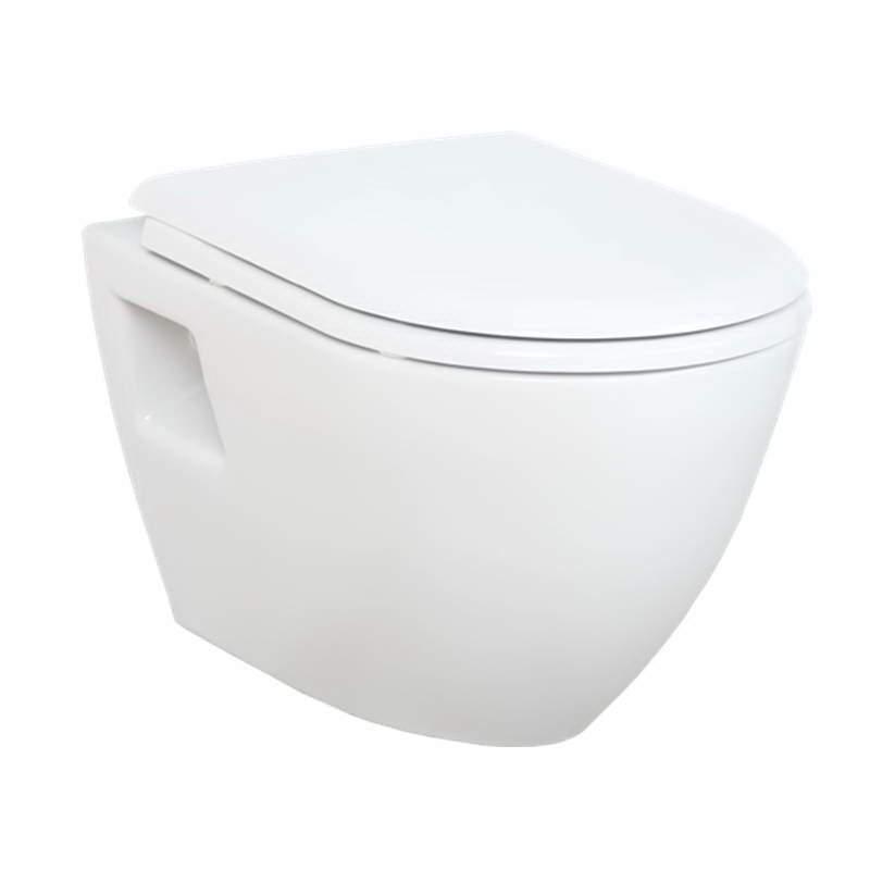 Piekarams tualetes pods ar vāku, balts