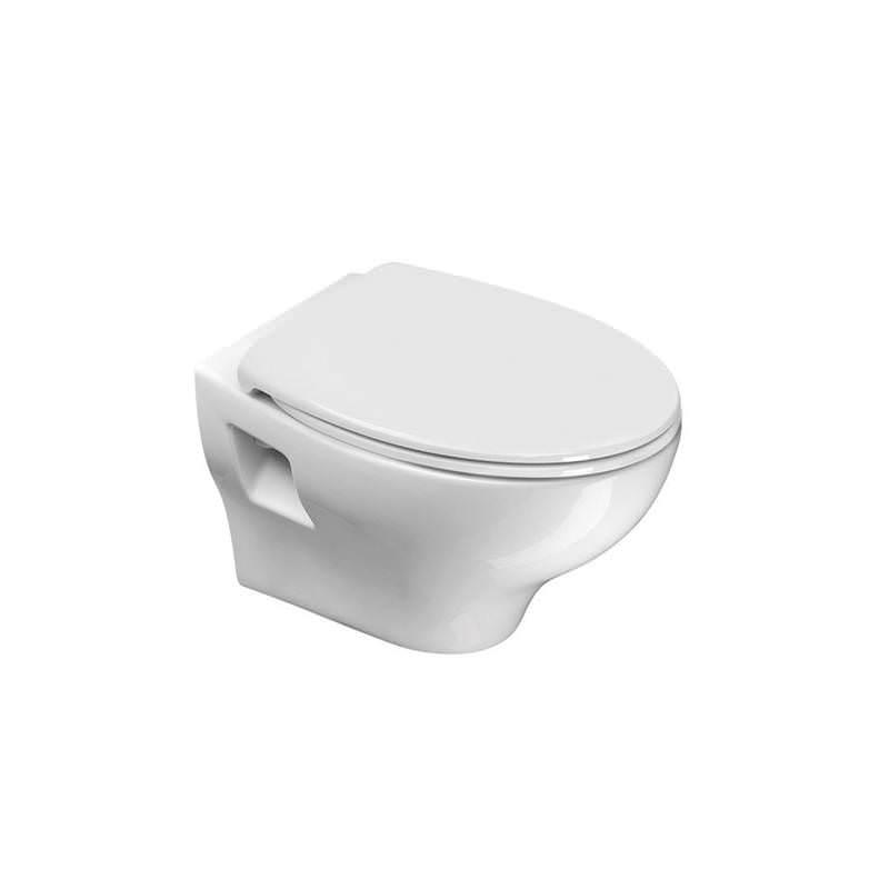 Piekaramais tualetes pods ar vāku, balts