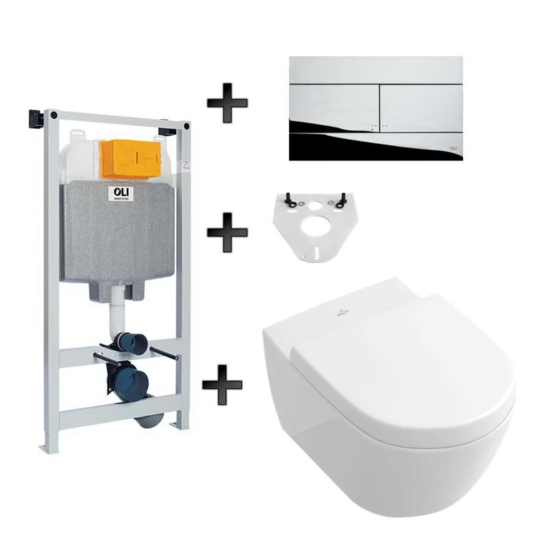 Villeroy & Bosch SUBWAY 2.0 wc pods ar iebūvējamo sistēmu
