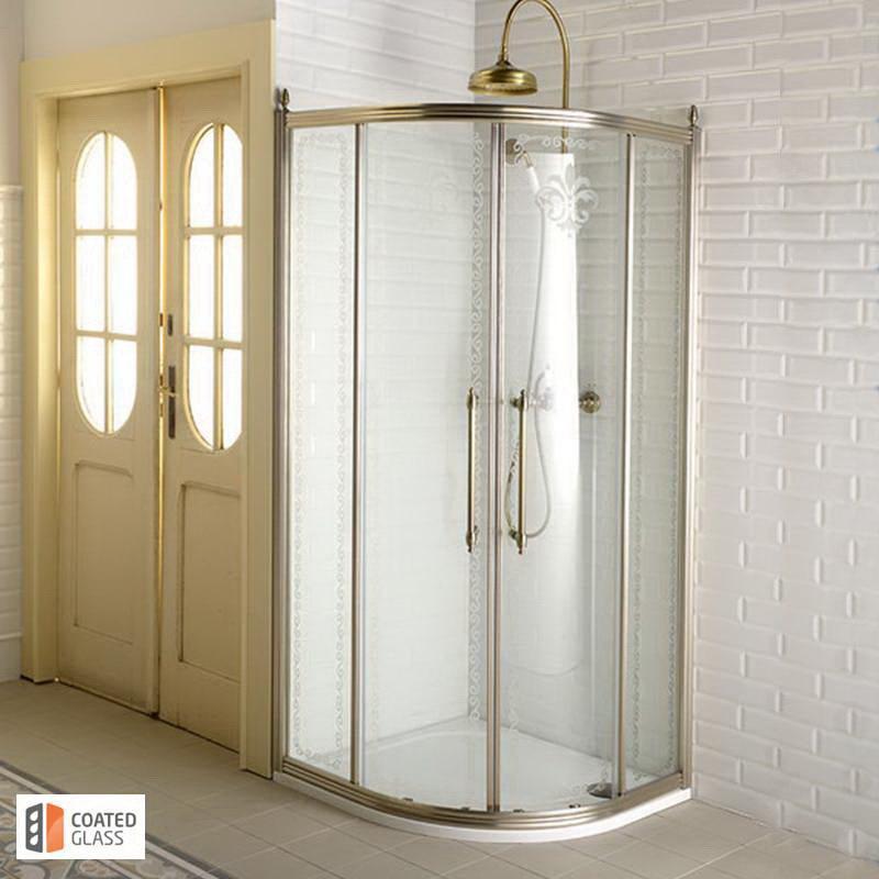 Klasiska stila dušas kabīne bronzas krāsā