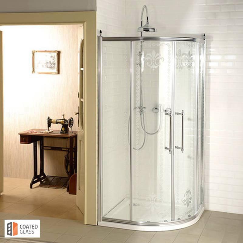 Klasiska stila dušas kabīne hroma krāsā