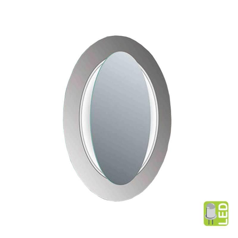 Ovāls spogulis ar LED apgaismojumu