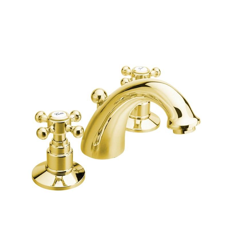 Izlietnes ūdens maisītājs zelta krāsā. золотой Итальянский смеситель для раковины в ретро стиль.