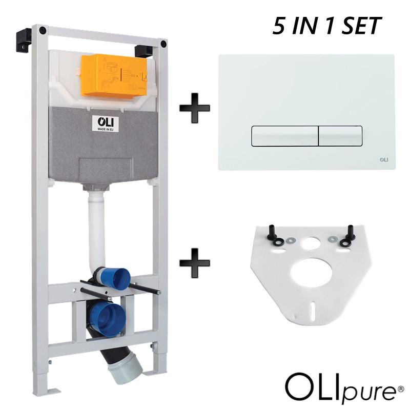 Iebūvējamais WC rāmis ar pogu un stiprinājumiem, komplekts, Системы инсталляции для унитазов